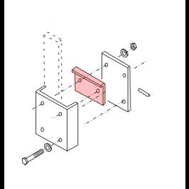 Linear / Osco 2100-1670 Arm Flange Bracket with Cutting Edge