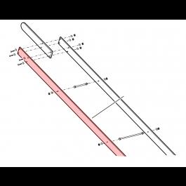 "Linear / Osco 2100-496 Wood Arm Extension, 1"" x 6"" x 10'"