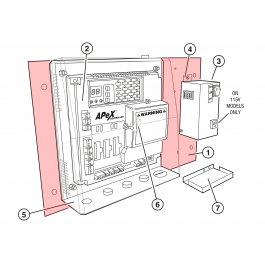 Linear / Osco 2100-1756 Control Box Mounting Plate