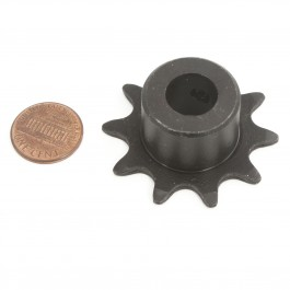 "Linear / Osco 2200-008 Sprocket (48-B-10, 1/2"" Bore) - penny shown for scale"