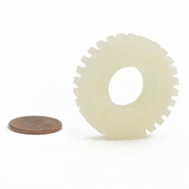 Linear / Osco 2200-030 Nylon Limit Nut (penny shown for scale)