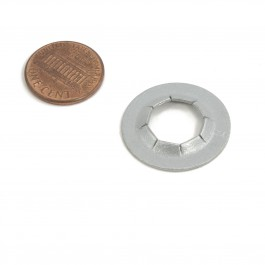 Linear / Osco 2400-029 Push Nut (penny shown for scale)