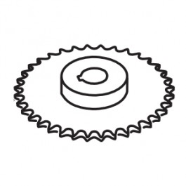 "Linear / Osco 2200-959 Sprocket (40-B-40, 1"" Bore) - for 1 HP"
