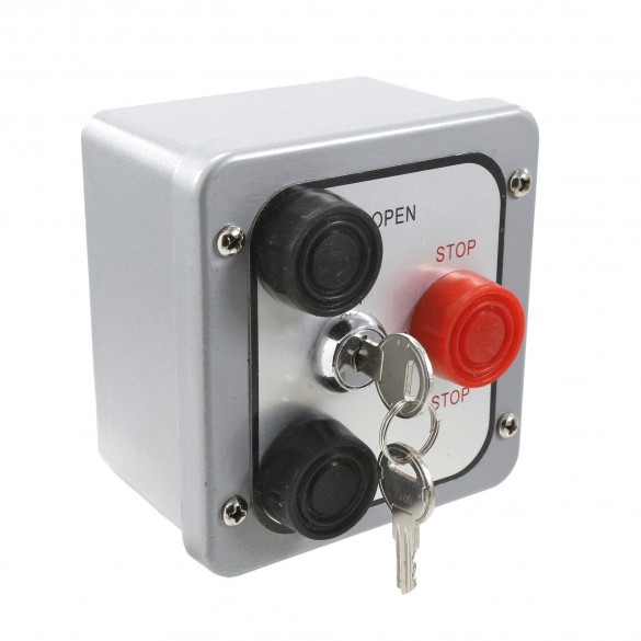 Exterior Three Button Station with Lock 2500-1322