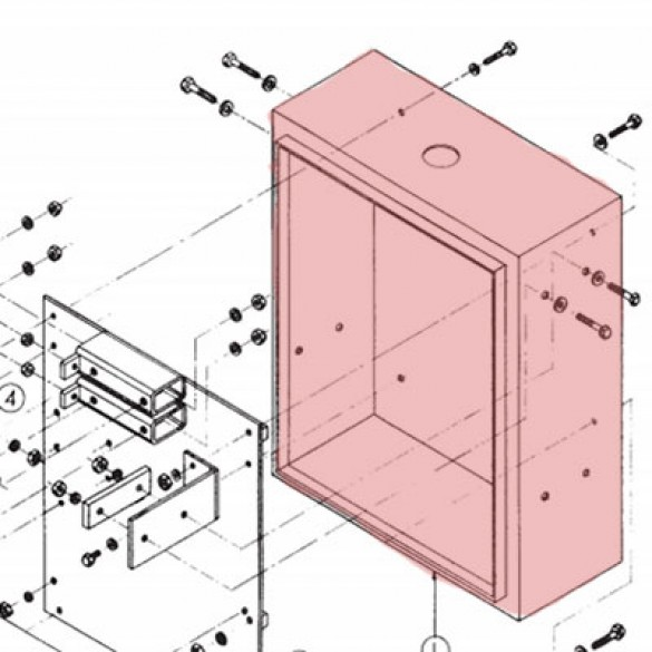 Enclosure Assembly without Door Linear 2110-067-BT