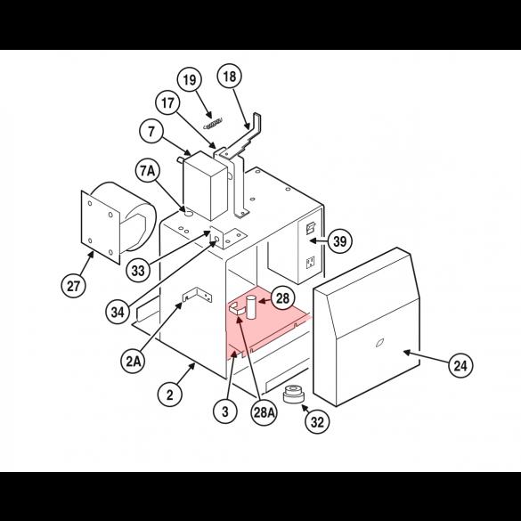 Linear / Osco 2100-2055 Bottom Shelf