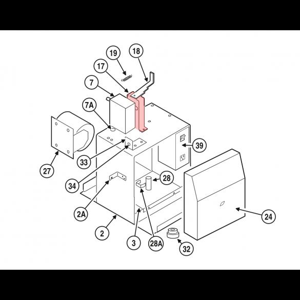 Linear / Osco 2100-2060 Disconnect Fulcrum Bracket