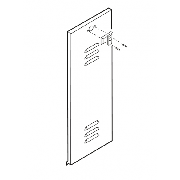 Linear / Osco 2110-318-YS Door Louvered with Lock BG BGU (Yellow, Smooth)