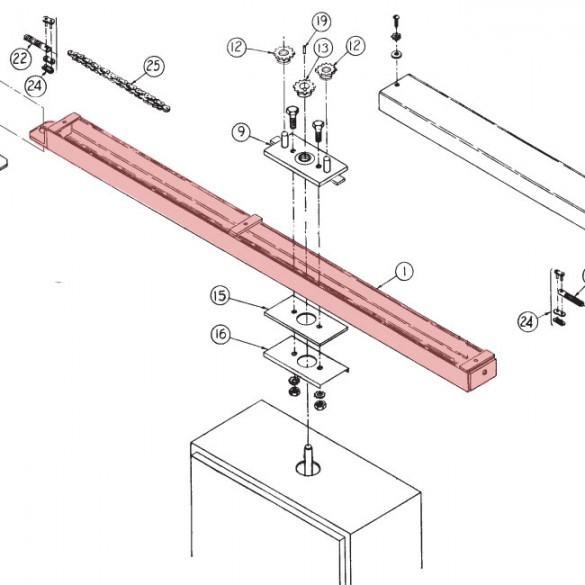Welded Rail Assembly - Linear 2110-312-BT