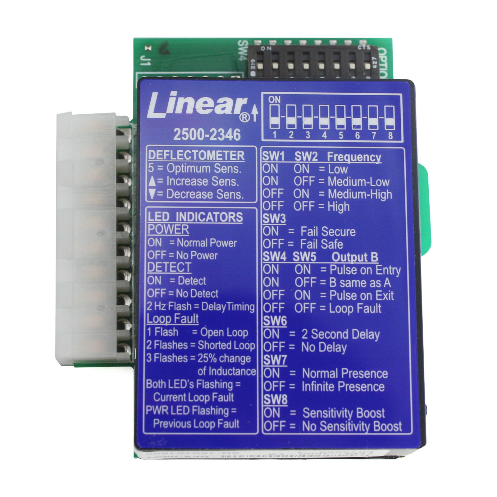 Linear 2500 2346 Plug In Loop Detector For Apex Control