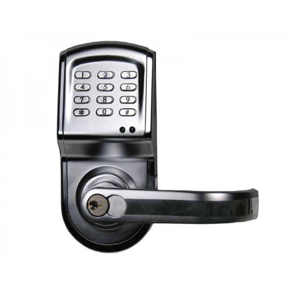 Linear - Electronic Access Control Cylindrical Lockset, Stainless Finish, Right-Hand Opening - 212LS-C26DCR-RT