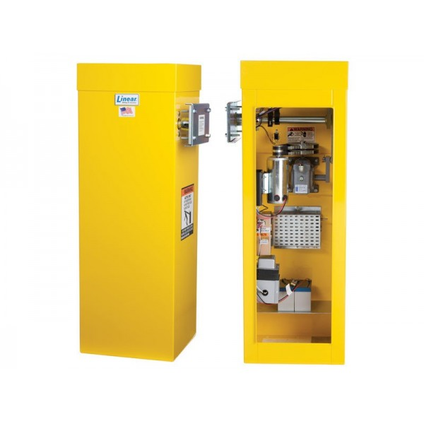 Linear BGUS-18-221 1/ 2HP 230 Volt 1 Phase Barrier Gate Operator with 18 ft Arm - Yellow