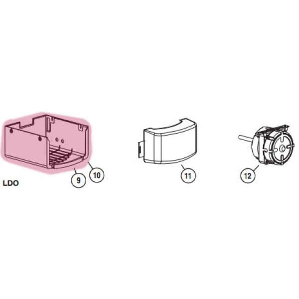 1/3 HP LDO Cover (Highlighted Part Only)