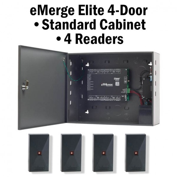 eMerge Elite-64 4-Door Standard Cabinet W/4-Reader Bundle System