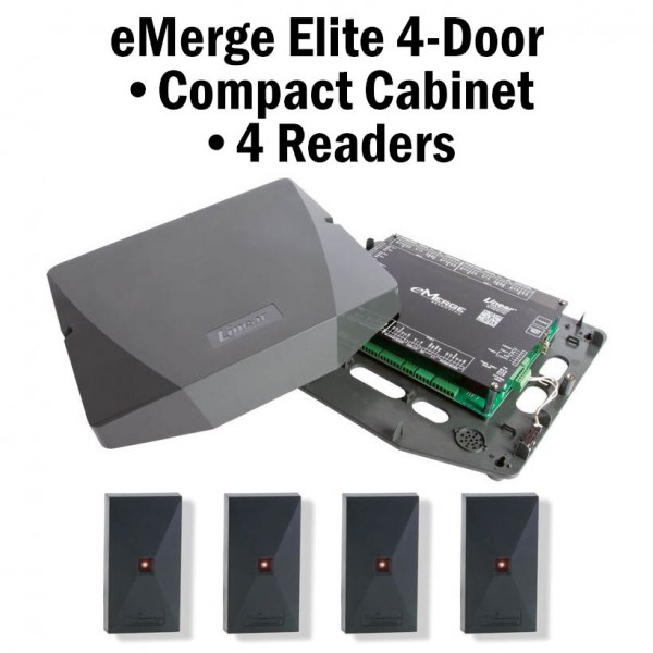 eMerge Elite-64 4-Door Compact Cabinet 4-Reader Bundle
