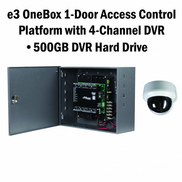 e3 OneBox, 1 Door Access, 4 Channel DVR, 500GB HD - 620-100333