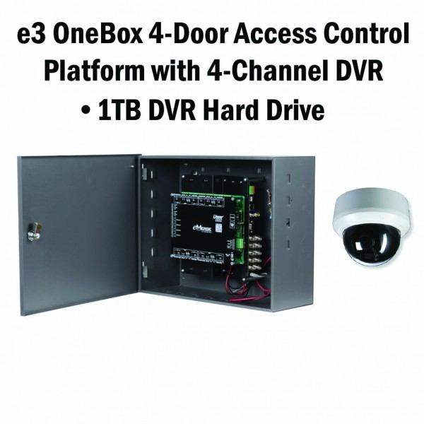 e3 OneBox, 4 Door Access, 4 Channel DVR, 1TB HD - 620-100334