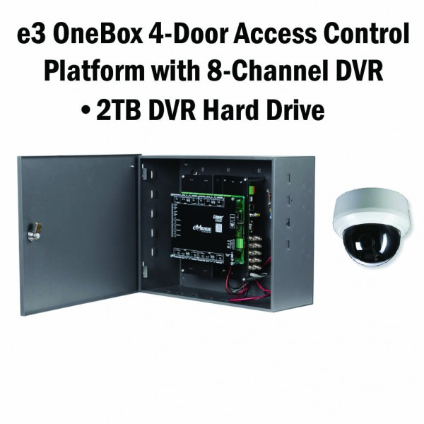 e3 OneBox, 4 Door Access, 8 Channel DVR, 2TB HD - 620-100336
