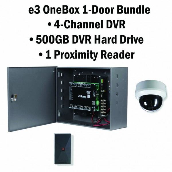 e3 OneBox, 1 Door Access & Reader, 4 Channel DVR 500G HD - 620-100337