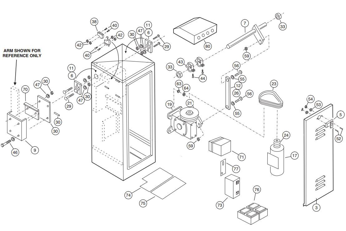 BGU-D Gate Operator Parts Diagram