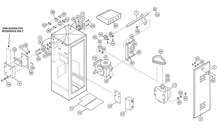 BGU Gate Operator Parts Diagram