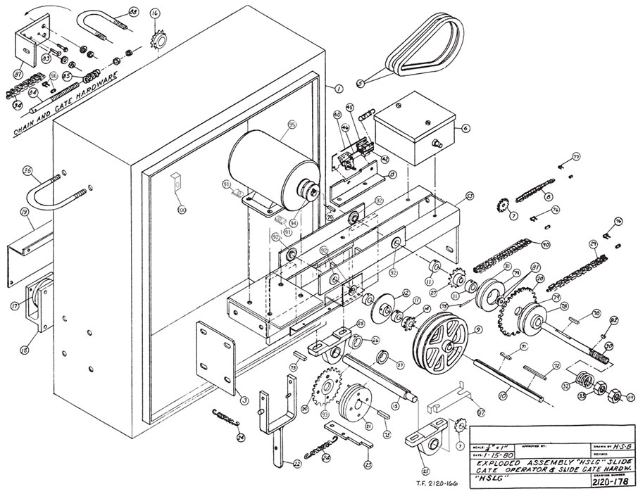 HSLG Gate Operator Parts Diagram