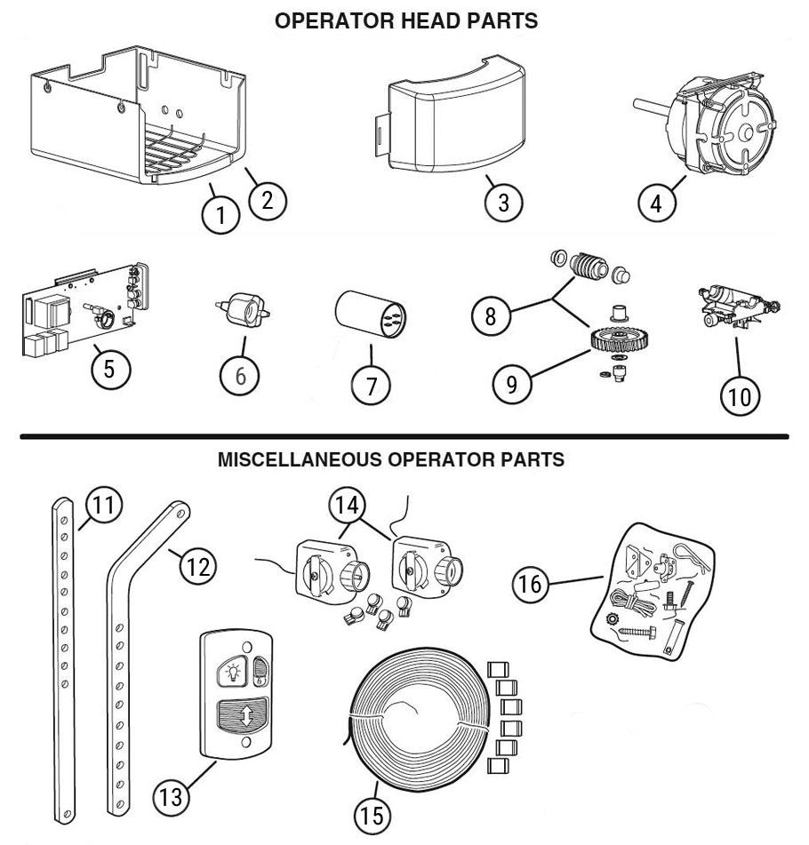LDO Garage Door Opener Parts Diagram