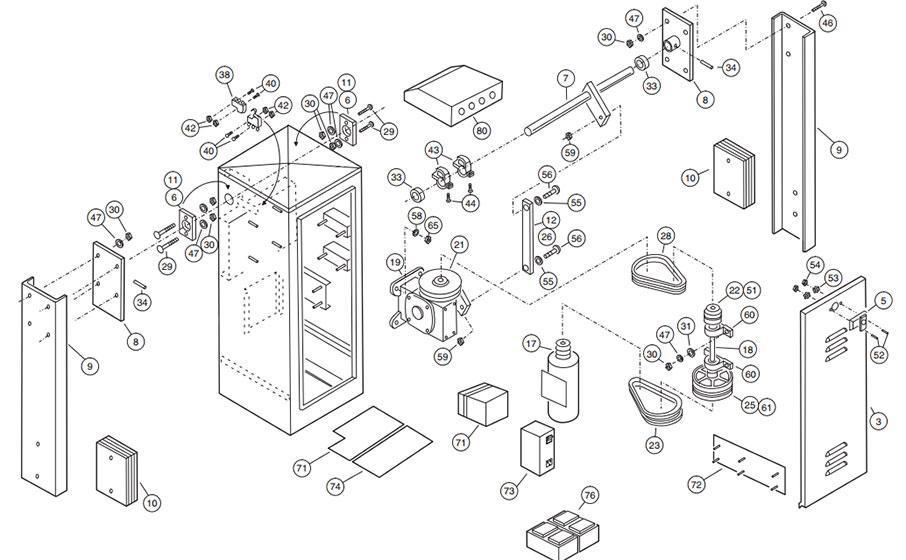 SG-D Operator Parts Diagram