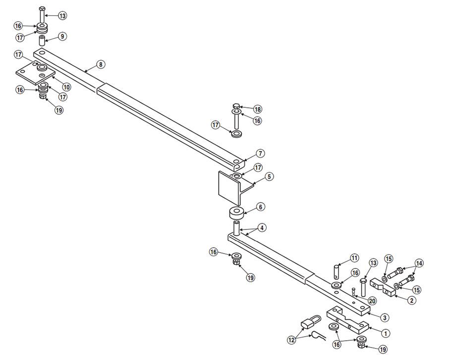 SWC Gate Arm Parts Diagram