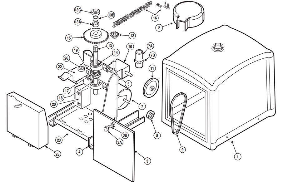 SWR Gate Operator Parts Diagram