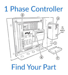 Linear HSLG 1 Phase Controller Parts